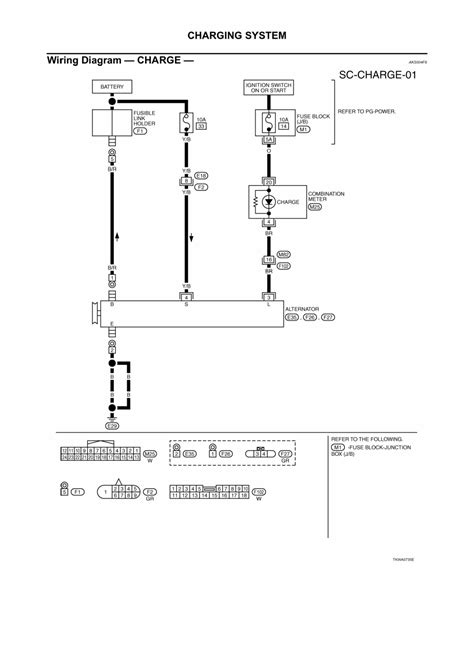 nissan altima charging system wiring diagram nissan auto