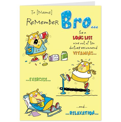 Birthday Cards For Brothers Funny Birthday Quotes For Friends For Men Form Sister For