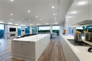 Kitchen Counter Stools Contemporary - duchateau floors marshall white penthouse modern kitchen melbourne by duchateau floors