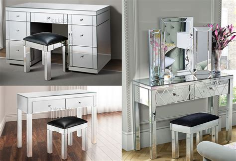 glass mirrored bedroom furniture foxhunter mirrored furniture glass dressing table with