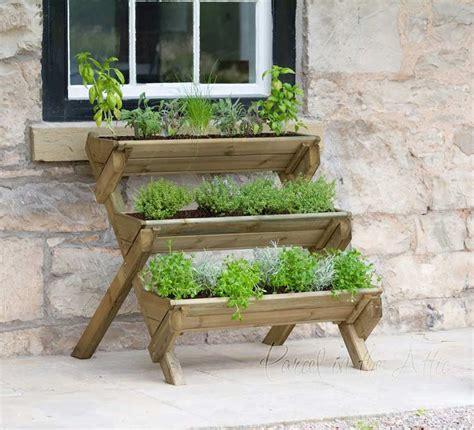 parcel   attic stepped herb planter