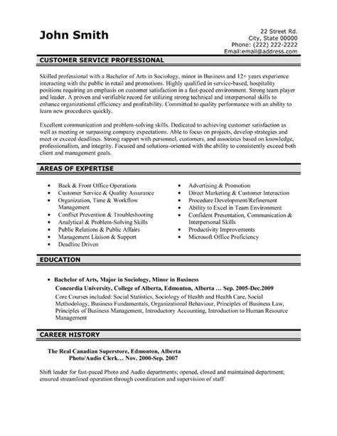 resume templates customer service top customer service resume templates sles