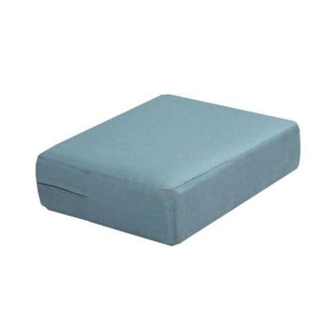 Martha Stewart Living Charlottetown Washed Blue Outdoor Ottoman Replacement Cushions