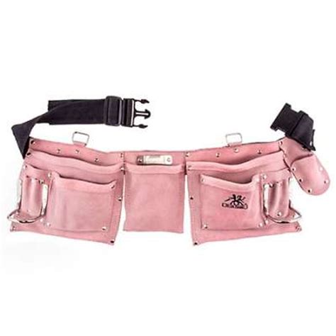 moxie trades belts s 10123 pink suede leather tool belt