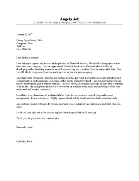 financial analyst cover letter template sle cover letter march 2015
