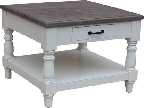 vierkante salontafel landelijk elegant hsm collection salontafel vierkant lade grijs