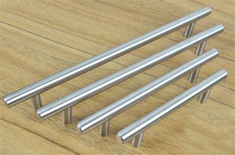 Stainless Steel Pulls Kitchen Cabinets Furniture Hardware Stainless Steel Kitchen Cabinet Handles Bar T Handle C C 385mm L 600mm