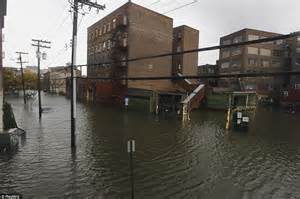 Hoboken Apartments By The Water Hurricane Pictures National Guard Into Flood