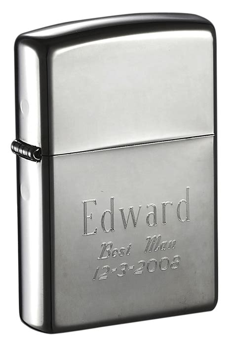 black zippo lighter personalized by free engraving