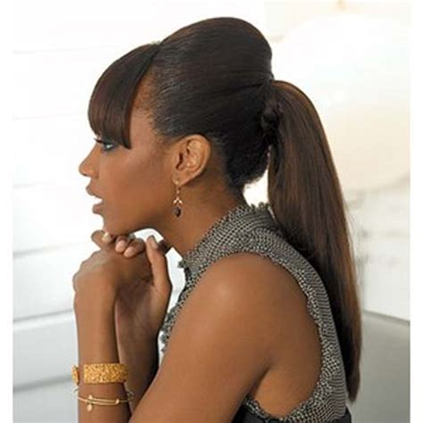 hair pony tail for african hair ponytail hairstyles for black women trendy hairstyles