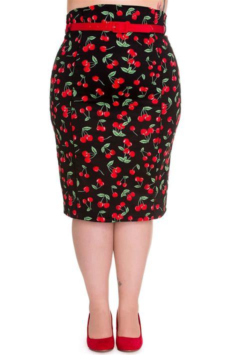 Pop Skirt hell bunny cherry pop pencil skirt