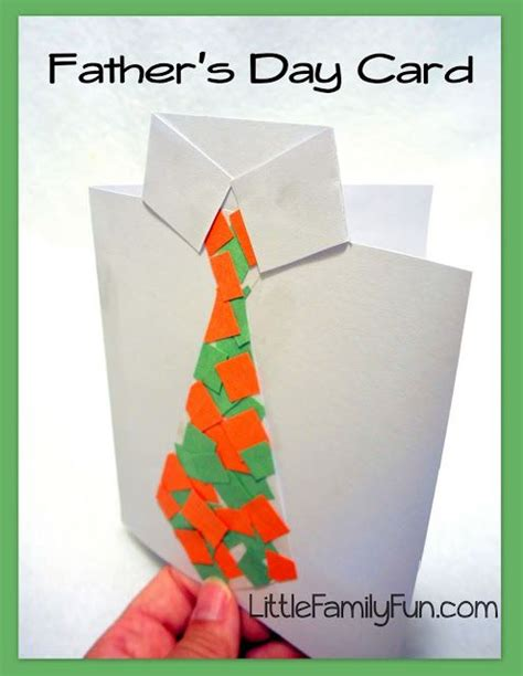 Fathers Day Paper Crafts - family fathersday card collage tie
