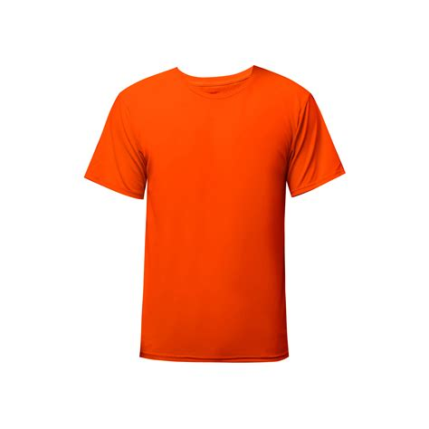 neon orange range rdm36 dri fit round neck t shirt plain printtshirt