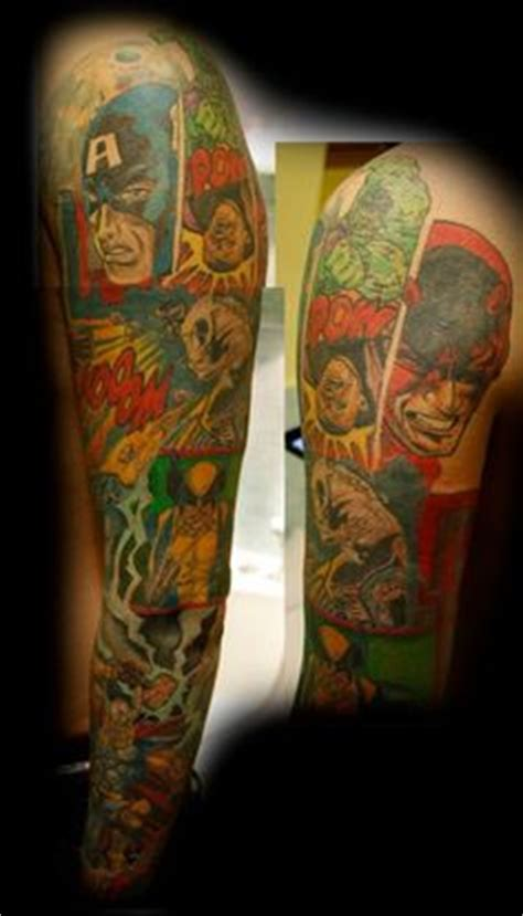 comic strip tattoo designs marvel tattoos on comic wolverine