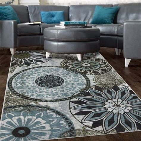Details About New Medallion Nylon Area Rug Gray Blue Navy Blue Grey Brown Area Rug