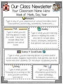 Third Grade Newsletter Template by 17 Best Ideas About Preschool Newsletter Templates On