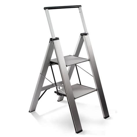 Space Saving Ideas Heavy Duty Slimline Step Ladder The Green Head