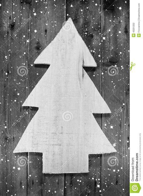 wooden handmade christmas tree  shabby style   wood snowy  stock photo image