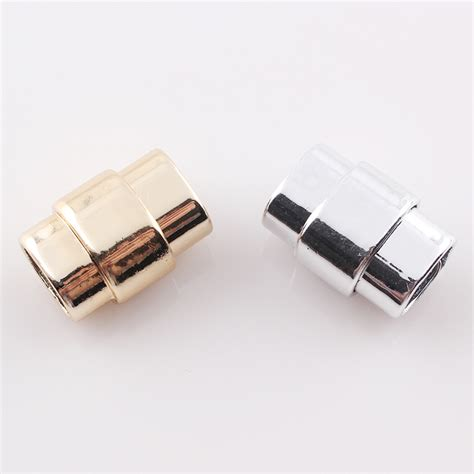 cord for jewelry strong magnetic clasp for 10x7mm gold leather cord