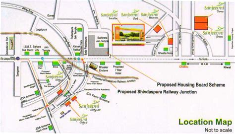location road map overview sanjeevni cityiii at nh 12 tonk road jaipur