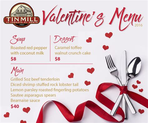 American Express Com Gift Card - valentine s day menu tin mill restaurant