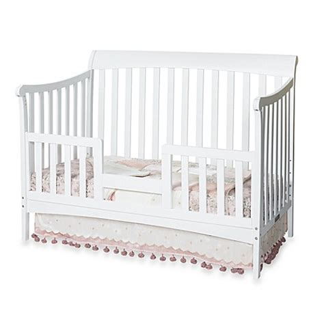 Convertible Crib Guard Rail Child Craft Toddler Guard Rail For Convertible Cribs In White Bedbathandbeyond
