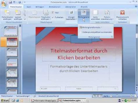 tutorial for powerpoint 2007 tutorial powerpoint 2007 2010 den folienmaster