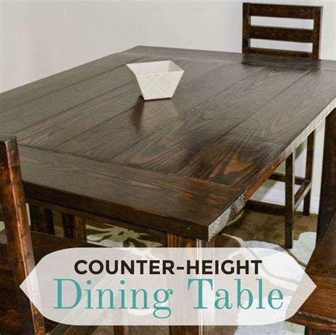 counter height project table diy counter height dining table counter height dining
