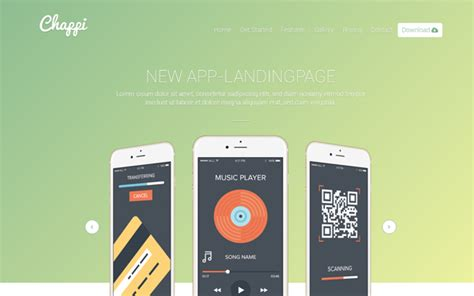 chappi responsive app landing page bootstrap landing pages wrapbootstrap