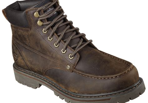 mens moc toe boot mens skechers bruiser moc toe boot brown