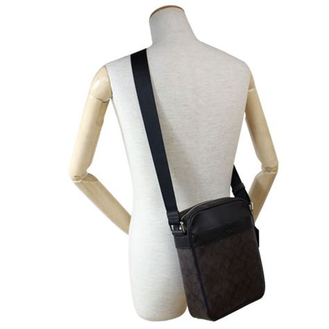 Coach Mahoganny And Flight Bag For spreesuki coach flight bag in signature crossbody bag mahogany brown f54788