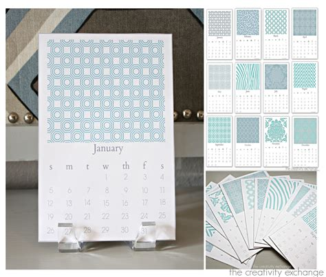 desktop calendar design exles free printable 2014 chic desktop calendar