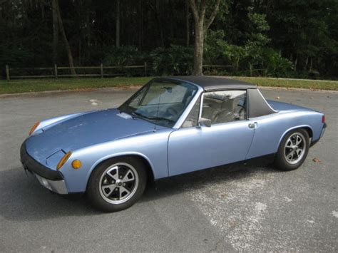 electric porsche conversion porsche 914 convertible 1973 blue for sale 4732912686