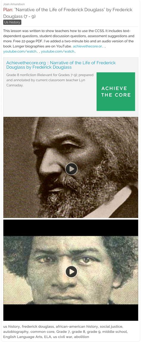frederick douglass biography for students 10 best human rights lesson plans images on pinterest