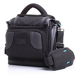 amazoncom deluxe digital slr camera case bag  padded interior lining  usa gear works