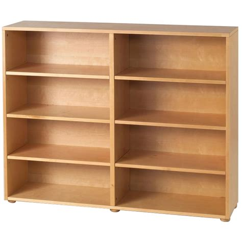 Bookcase Pine Basic 8 Shelf Bookcase By Maxtrix Kids Shown In Natural