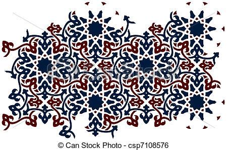 islamic pattern clipart islamic 0124 two color islamic style pattern for