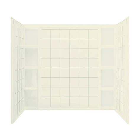 bathtub wall set sterling ensemble tile 37 1 2 in x 60 in x 54 1 4 in 3