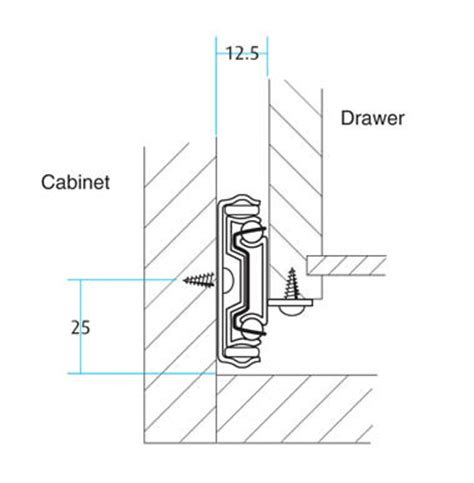 Drawer Bottom Repair by Bottom Fix Extension Drawer Slides Bearing