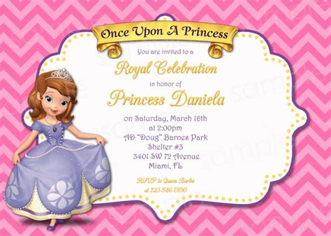printable invitations of sofia the first princess sofia birthday invitations printable invitations
