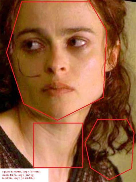 what is joelle carter face shape emma watson tom felton helena bonham carter face