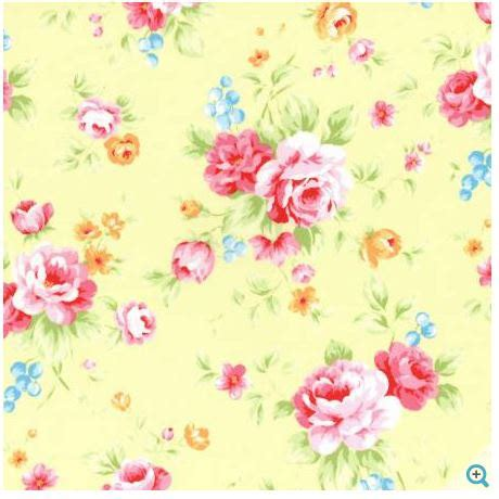 shabby chic floral fabric yellow floral fabric lecien