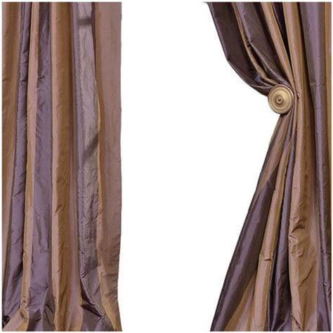 purple brown curtains faux silk striped curtain in brown and purple product
