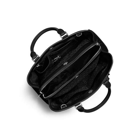 Mk Small Satchel Black lyst michael kors camille large leather satchel in black