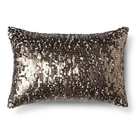 Sequin Decorative Pillows by Callisto Home Eos Gold Sequin Embellished Cotton Pillow