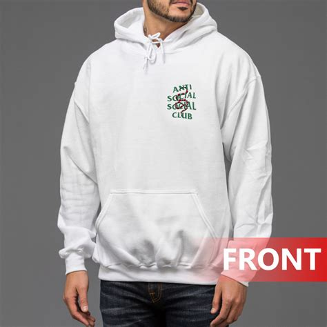 Hoodie Anti Social Social Club Assc Size M Xl assc white anti social social club x gucci snake hoodie trendstees
