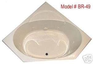 whirlpool tub br 49 48 x 48 corner acrylic tub 6 therapy