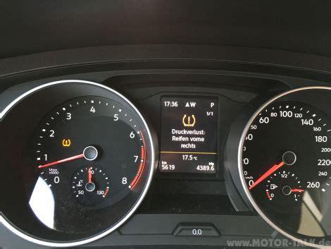 Reifendruck Auto Wieviel by Test Reifendruck Kontrollsystem Vw Tiguan 2