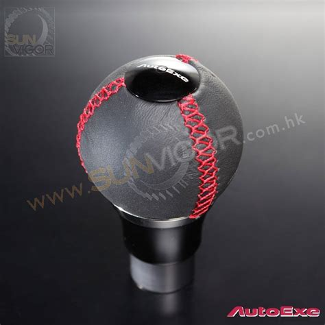 Autoexe Shift Knob autoexe leather spherical shift knob with stitching