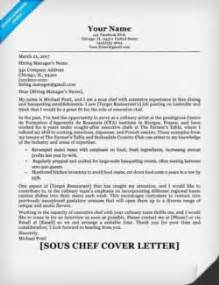 Sous Chef Cover Letter by Chef Cover Letter Sle Writing Tips Resume Companion